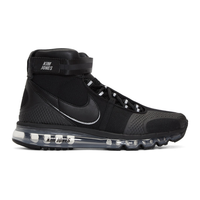 Image of NikeLab Black Kim Jones Edition Air Max 360 High-Top Sneakers