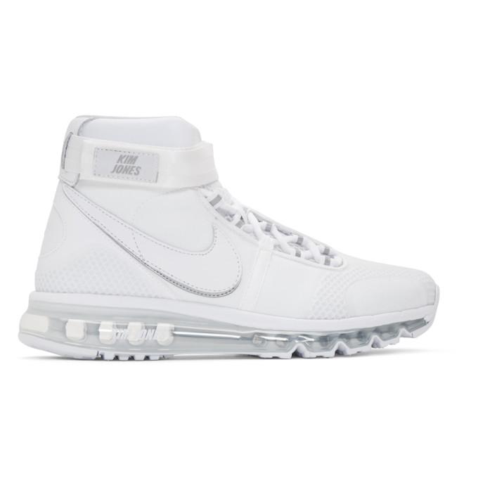 NikeLab White Kim Jones Edition Air Max 360 High-Top Sneakers