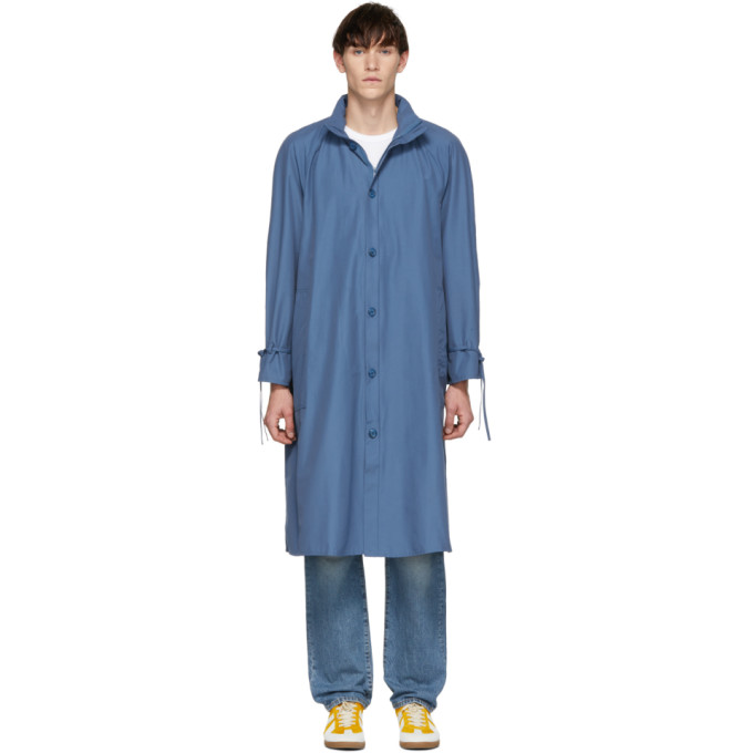 Image of Bianca Chandon Blue Packable Hood Raincoat
