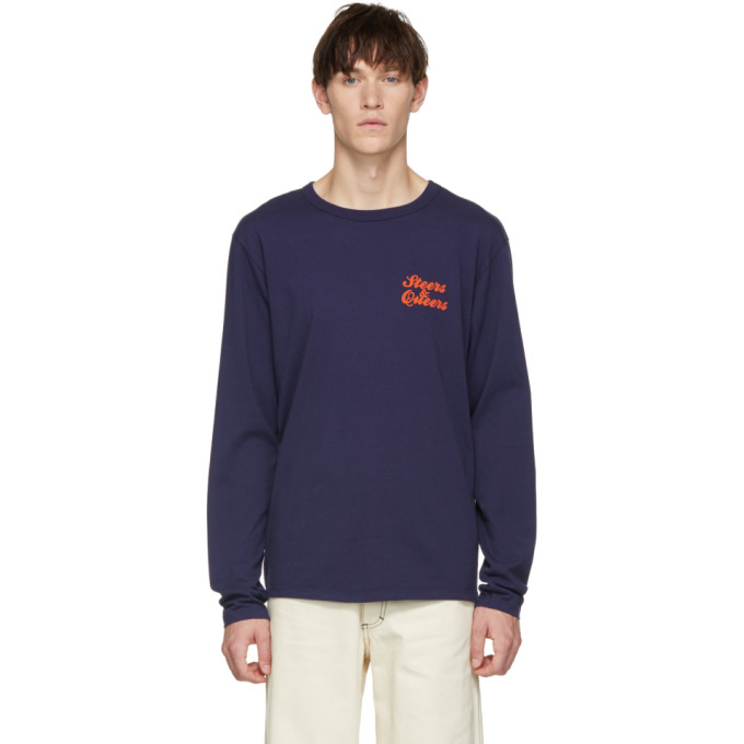 BIANCA CHANDON Bianca Chandon Navy Steers And Queers Long Sleeve T-Shirt