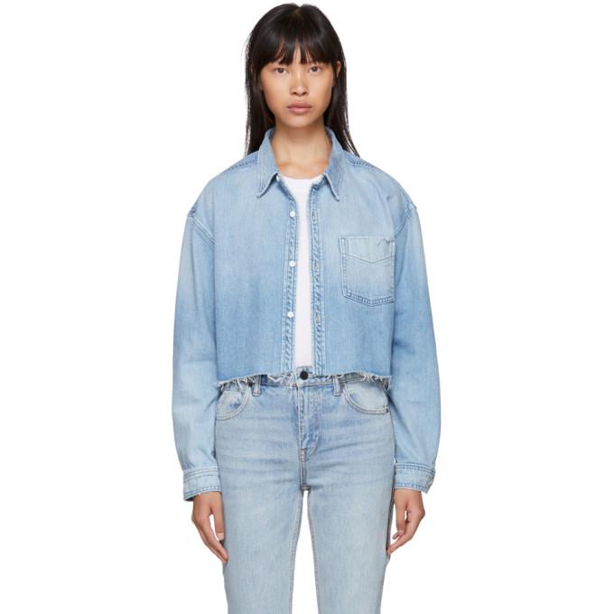 Image of Grlfrnd Blue Denim Christy Shirt