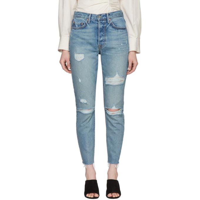Grlfrnd Blue Karolina Butt Slit Jeans