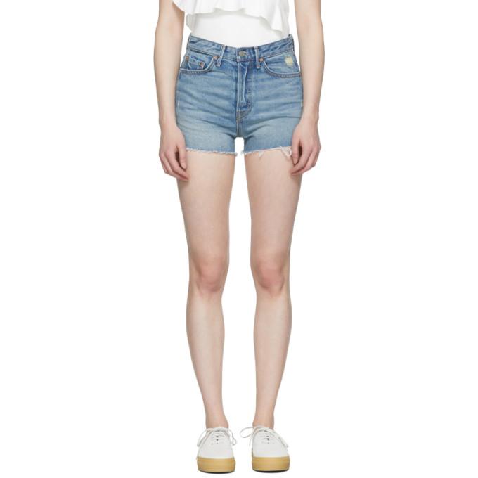 Image of Grlfrnd Blue Denim 'The Cindy' Shorts