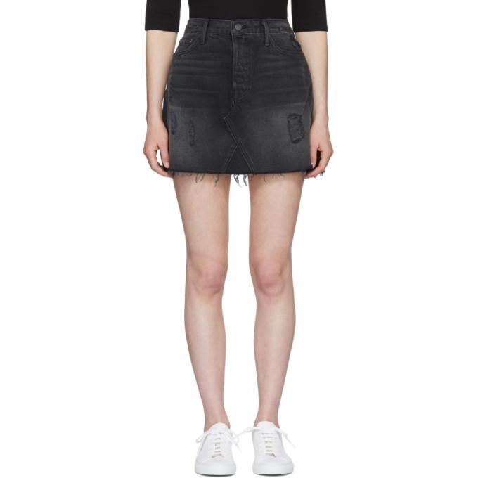 Image of Grlfrnd Black Eva Denim Miniskirt