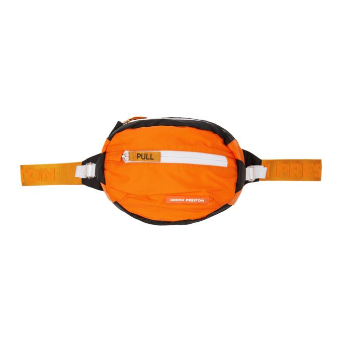 HERON PRESTON Orange Padded Fabric Belt Bag in Yellow
