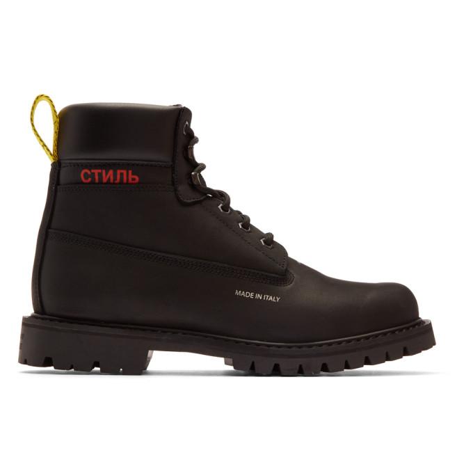 Heron Preston Black 'Style' Boots