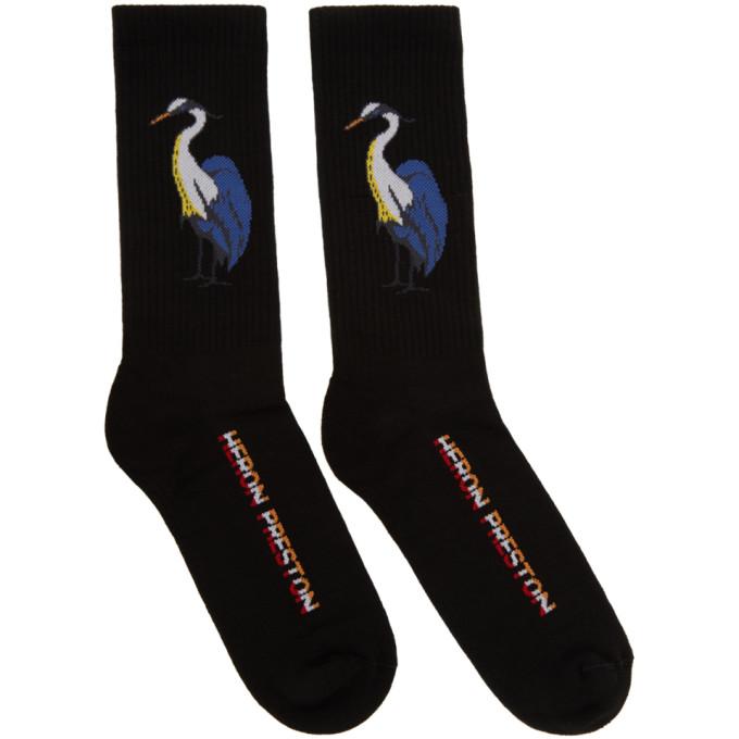 Image of Heron Preston Black Herons Crew Socks