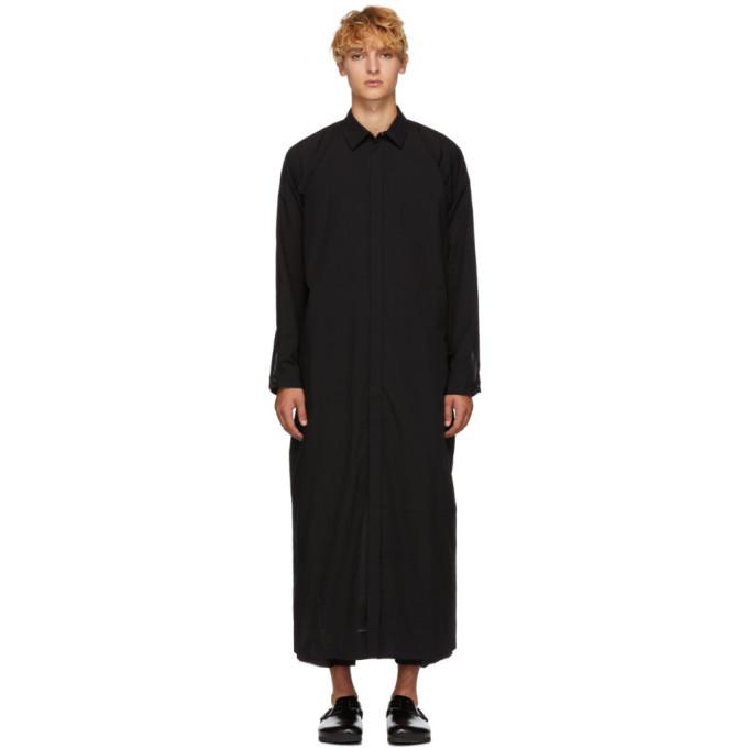 Jan-Jan Van Essche Chemise longue en laine noire