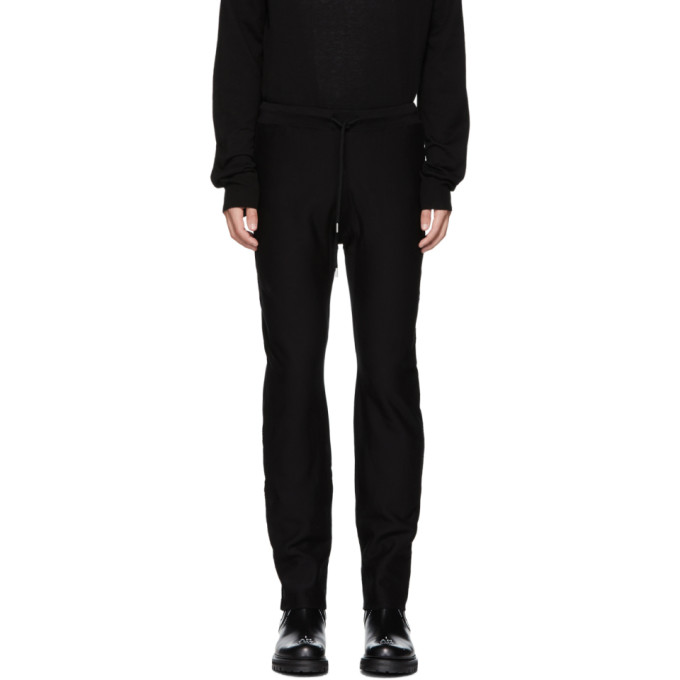 TAKAHIROMIYASHITA TheSoloist. Pantalon de survetement en jersey bouclette noir