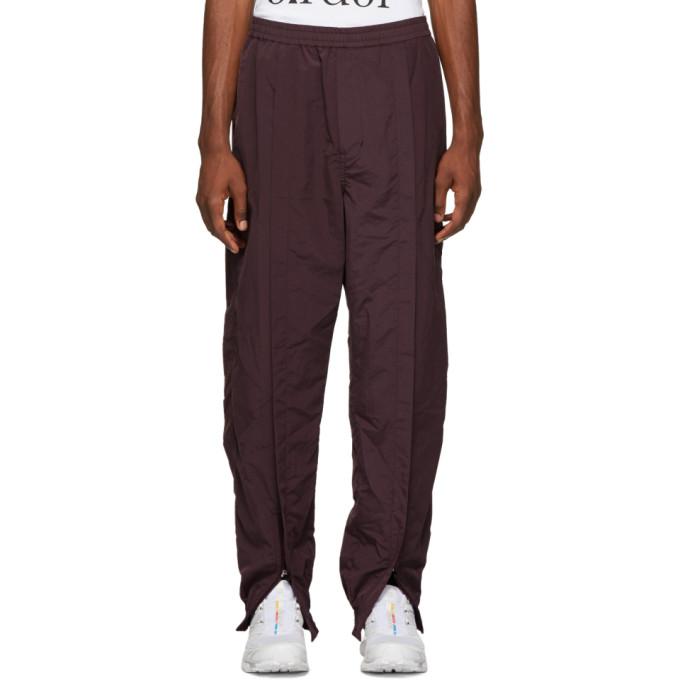 Image of Name. Burgundy Ankle Zip Trank Pants