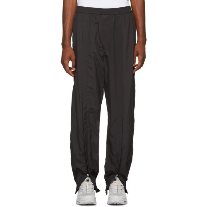 Image of Name. Black Ankle Zip Track Pants