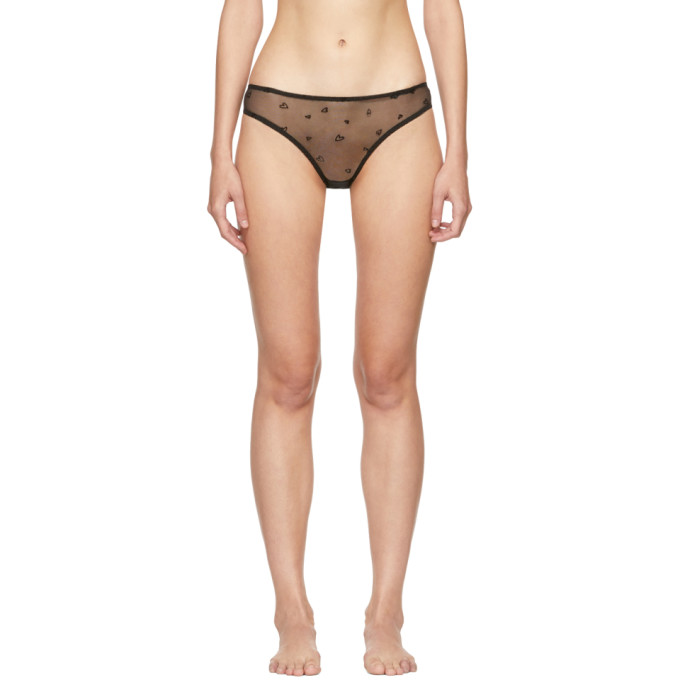 Image of Le Petit Trou Black Claudette Heart Briefs
