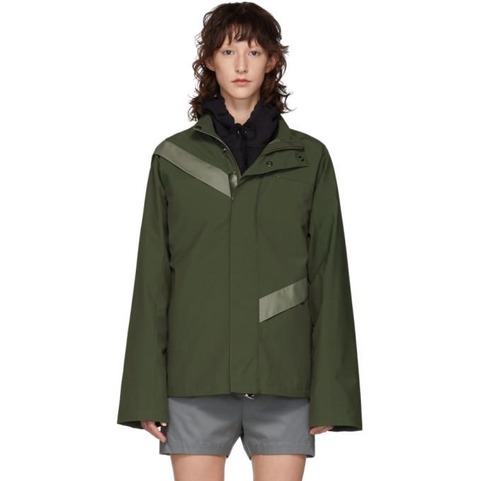 KIKO KOSTADINOV Kiko Kostadinov Green Gaetan Cut Through Jacket in Grn/Grey