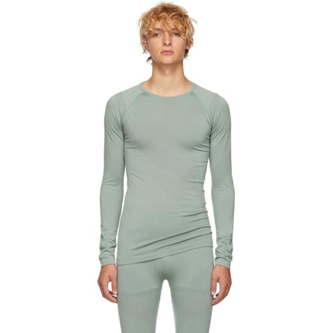 KIKO KOSTADINOV Kiko Kostadinov Green Asics Edition Seamless Kiko T-Shirt in Slate