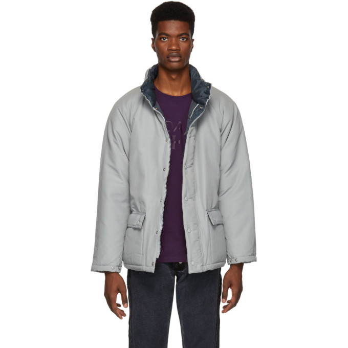 PAA Paa Grey Down Wtr Jacket in Silver
