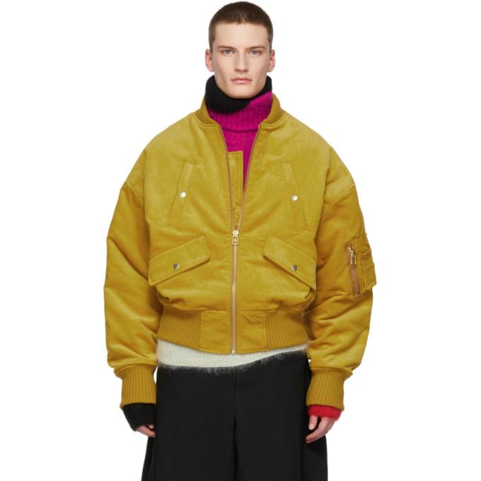 LANDLORD Landlord Yellow Corduroy Bomber Jacket