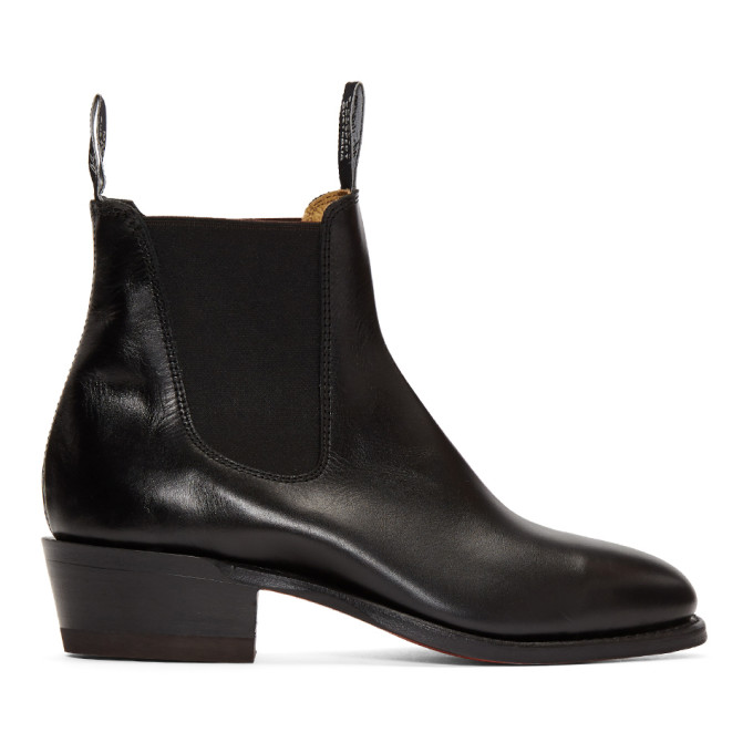 R.M.WILLIAMS R.M. Williams Black The Yearling Boots