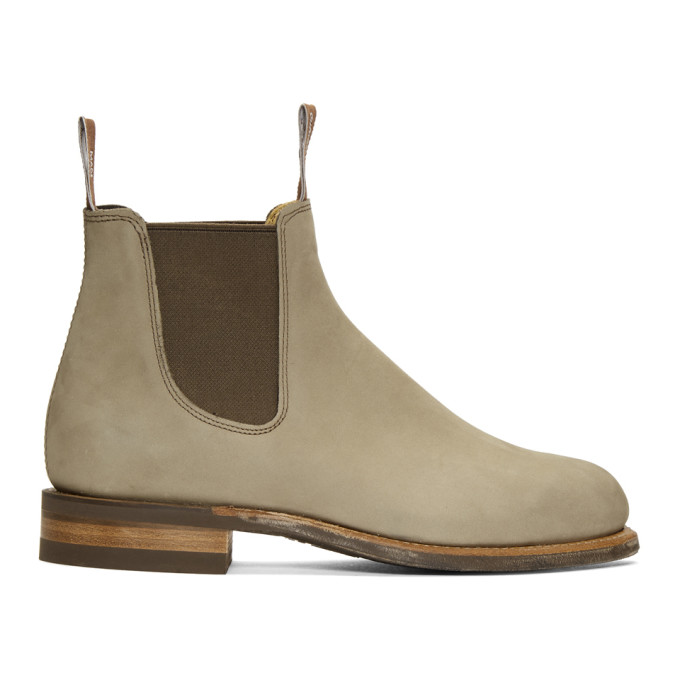 R.M.WILLIAMS R.M. Williams Grey Comfort Turnout Chelsea Boots in Eucalypt