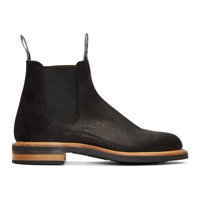 R.M.WILLIAMS R.M. Williams Black Gardener Full Welt Chelsea Boots in Nero