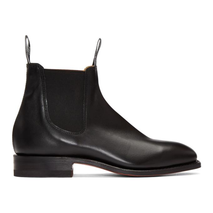 R.M.WILLIAMS R.M. Williams Black Craftsman Chelsea Boots