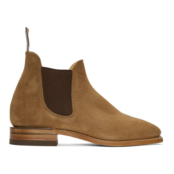 R.M.WILLIAMS R.M. Williams Brown Suede Sydney Chelsea Boots in Saddle