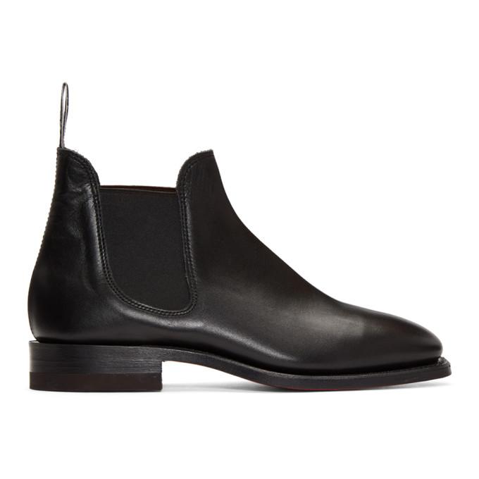 R.M.WILLIAMS R.M. Williams Black Sydney Boots