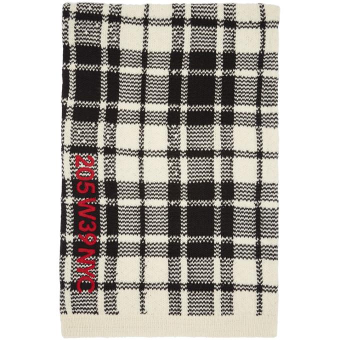 Calvin Klein 205W39NYC Off-White & Black Embroidered Blanket Scarf