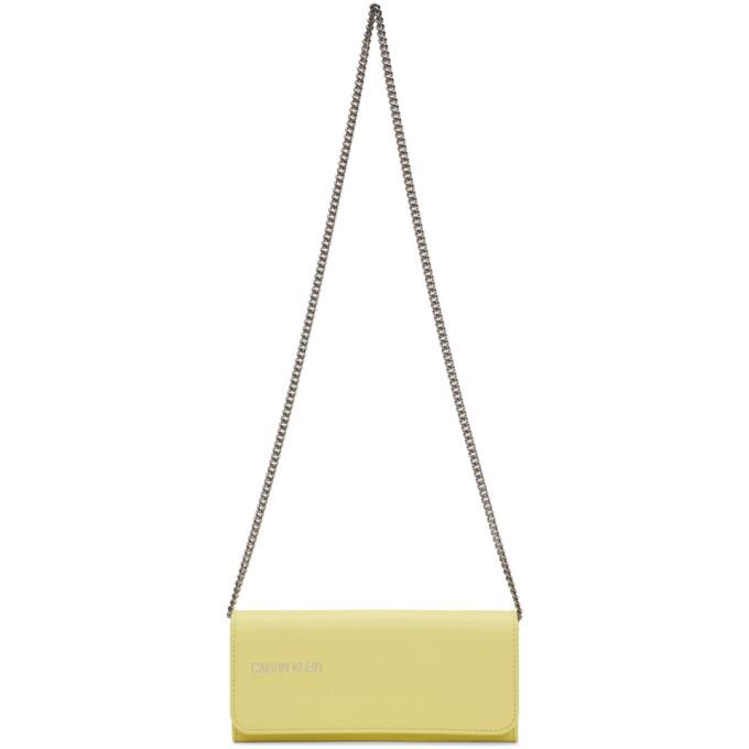 Calvin Klein 205W39NYC Yellow Wallet Chain Bag