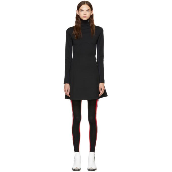 Image of Calvin Klein 205W39NYC Black Wool Turtleneck Dress