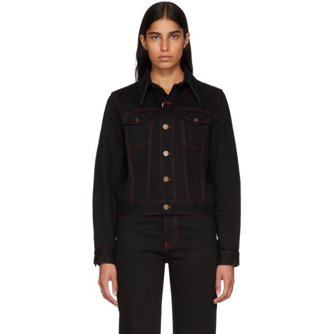 Image of Calvin Klein 205W39NYC Black Denim Dennis Hopper Jacket