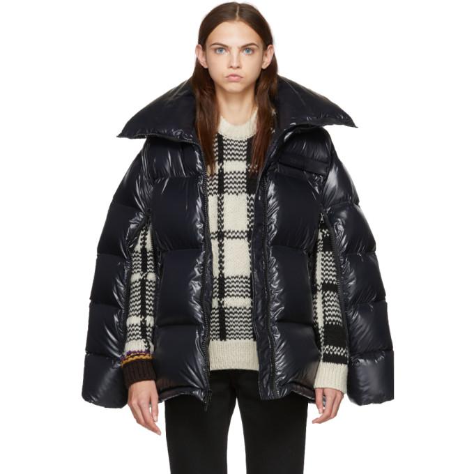 Image of Calvin Klein 205W39NYC Black Chintz Puffer Jacket