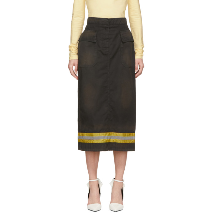 Image of Calvin Klein 205W39NYC Black Fireman Skirt