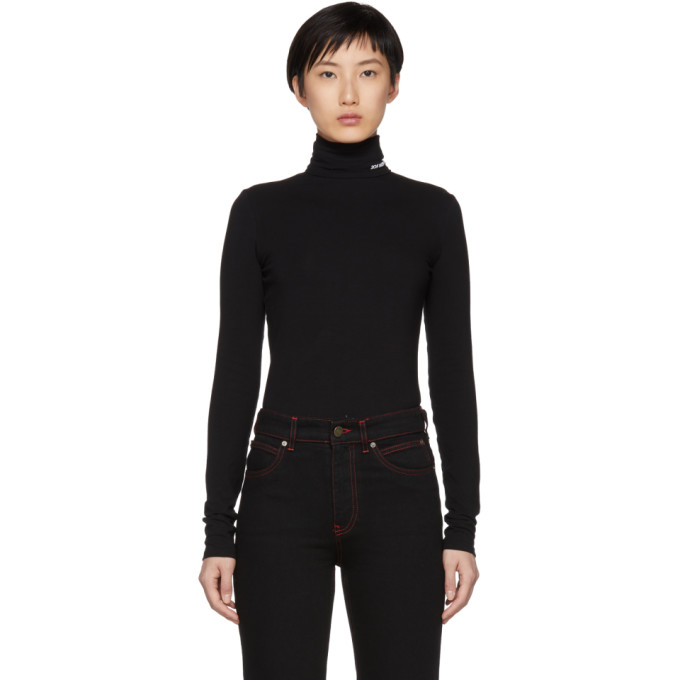 Image of Calvin Klein 205W39NYC Black Superfine Turtleneck