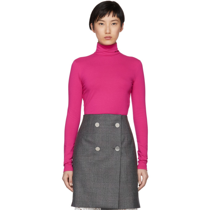 Image of Calvin Klein 205W39NYC Pink Superfine Turtleneck