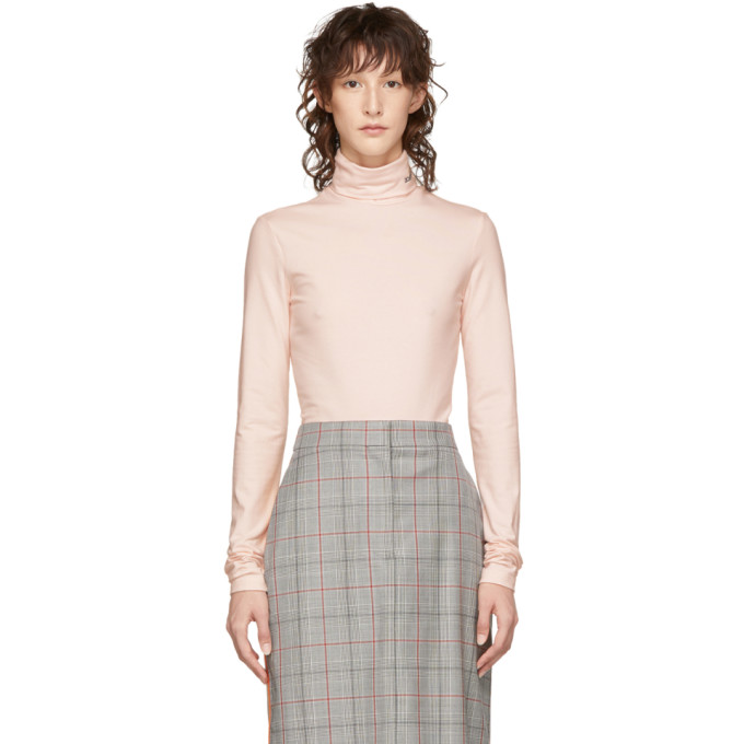 Image of Calvin Klein 205W39NYC Pink Logo Turtleneck
