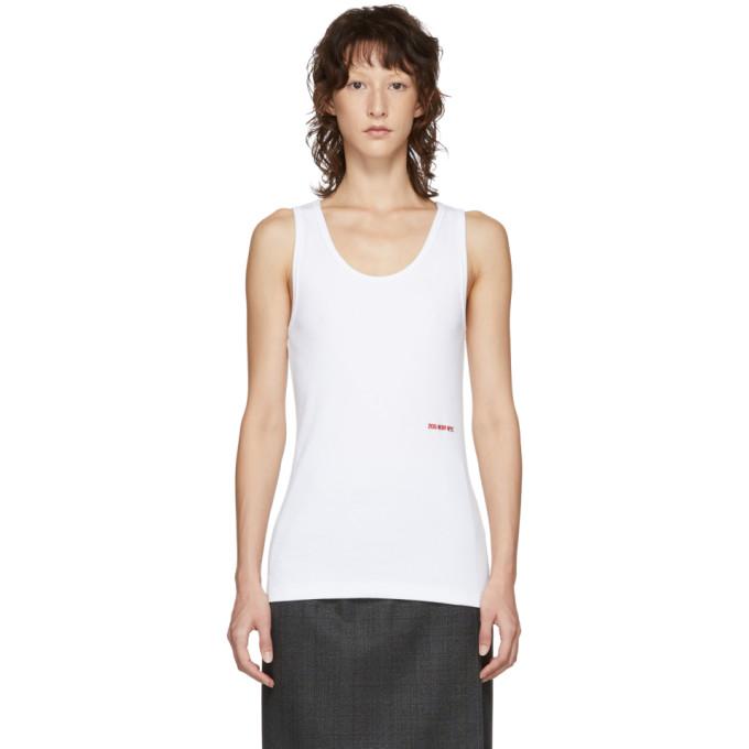 Image of Calvin Klein 205W39NYC White Logo Tanks Top