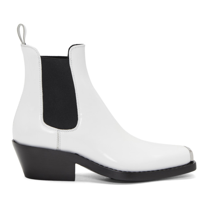Calvin Klein 205W39NYC White Western Claire Boots
