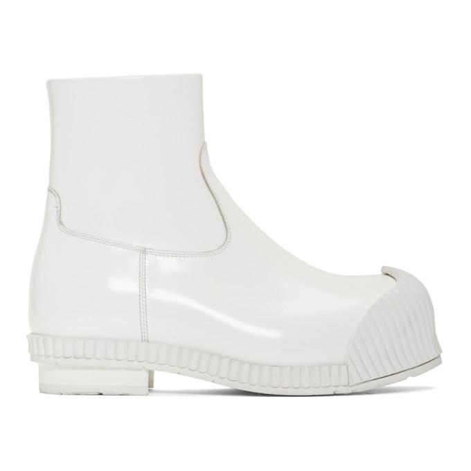 Calvin Klein 205W39NYC White Patent Deicine Boots