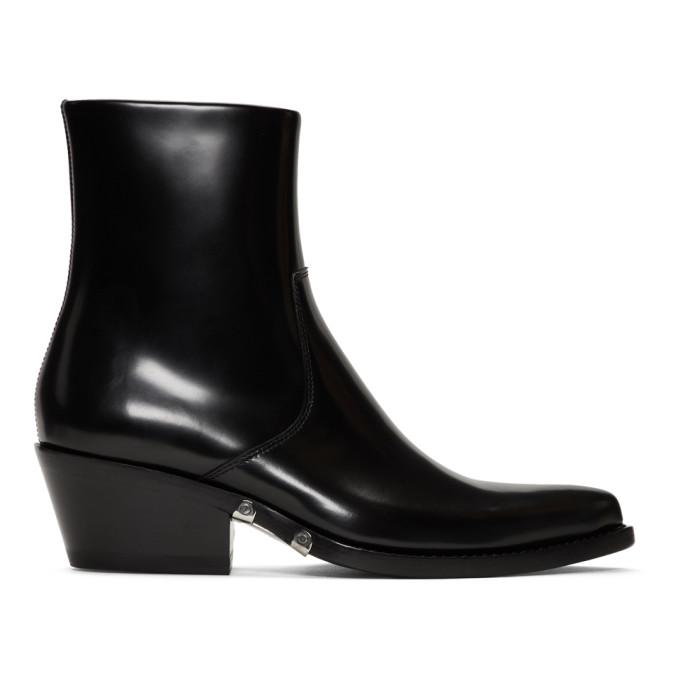 Image of Calvin Klein 205W39NYC Black Tiesa Boots