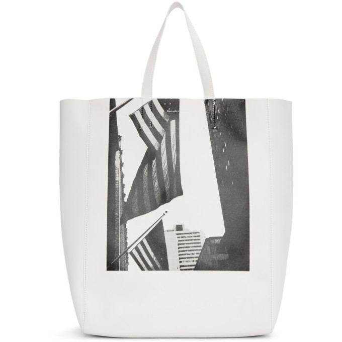 Image of Calvin Klein 205W39NYC White Soft Andy Warhol Tote