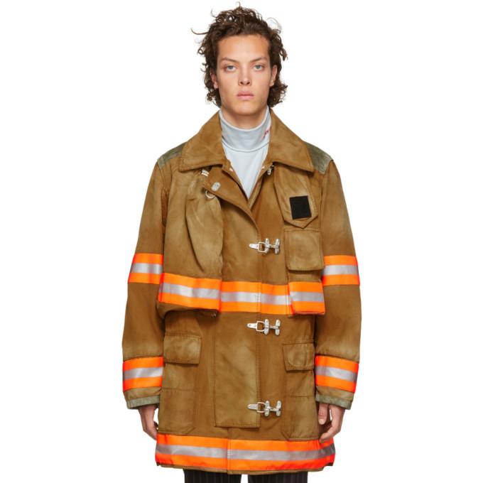 Calvin Klein 205W39NYC Brown Aged Fireman Coat