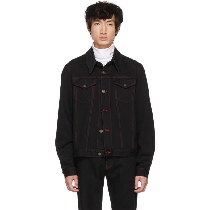 Image of Calvin Klein 205W39NYC Black Denim Archive Trucker Jacket