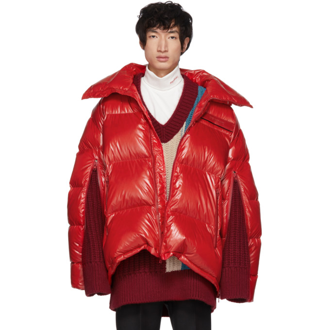 Image of Calvin Klein 205W39NYC Red Down Oversized Jacket