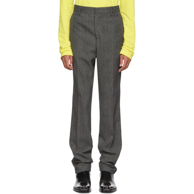 Calvin Klein 205W39NYC Grey & Black Uniform Trousers