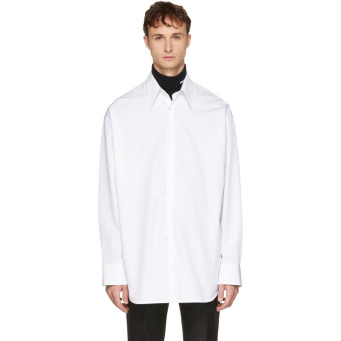 Calvin Klein 205W39NYC White Embroidered Oversized Shirt