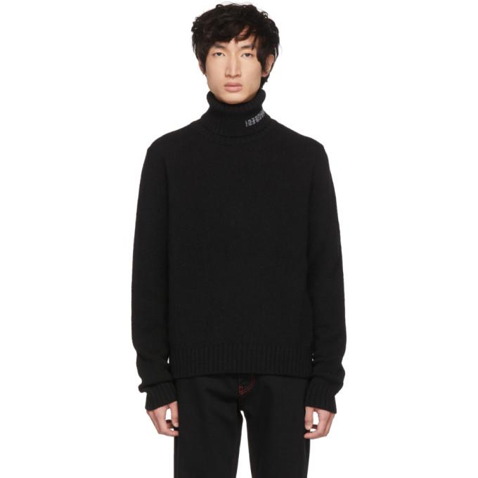 Image of Calvin Klein 205W39NYC Black Logo Turtleneck