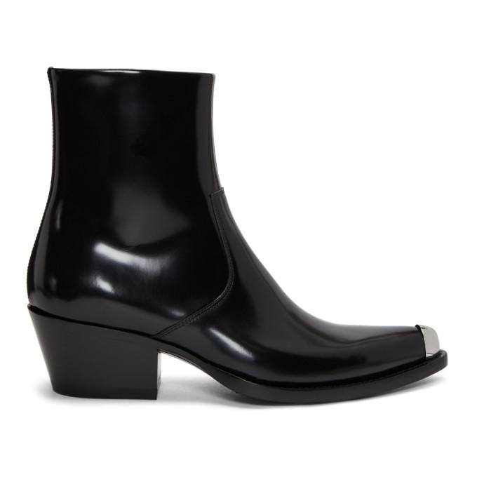 Calvin Klein 205W39NYC Black Tex-C Bis Boots