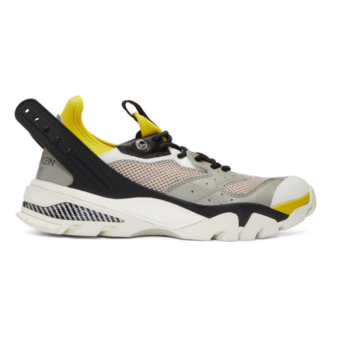 Calvin Klein 205W39NYC Grey & Beige Carlos 10 Sneakers