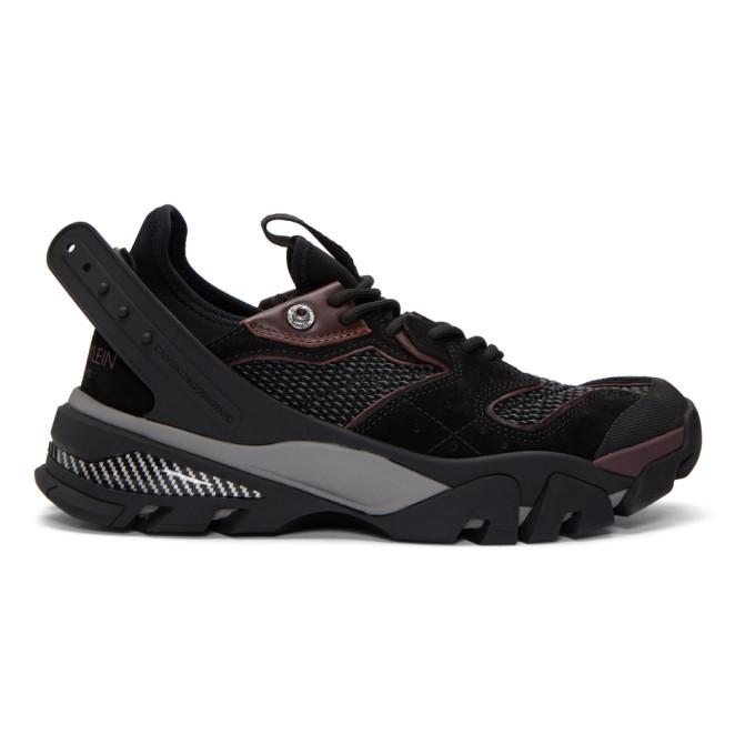 Calvin Klein 205W39NYC Black & Burgundy Carlos 10 Sneakers