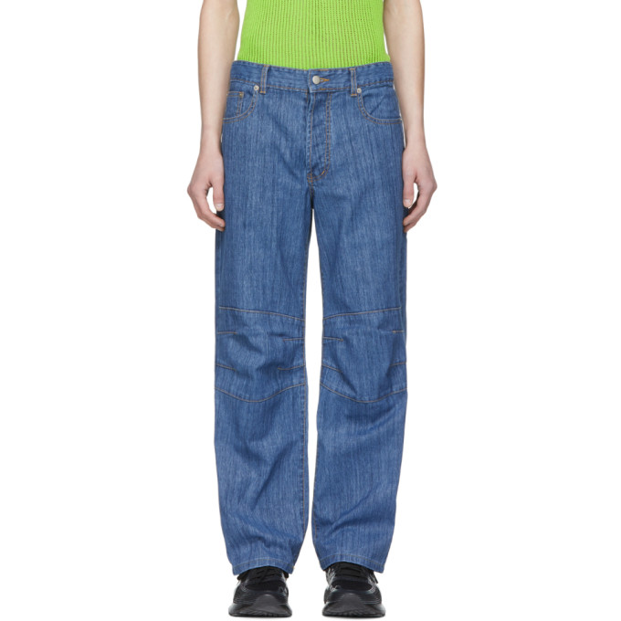 Image of Chin Mens Blue Snow Wash Jeans